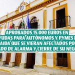 ALBAIDA APRUEBA 15.000 EUROS DESTINADOS A  AYUDAS A MICROEMPRESAS Y AUTÓNOMOS PARA  PALIAR LOS EFECTOS ECONÓMICOS DE  LA CRISIS SANITARIA DEL COVID-19.
